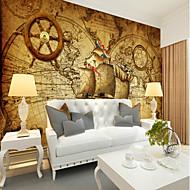 billige Tapet-Art Deco Mønster 3D Hjem Dekor Klassisk Vintage Tapetsering, Lerret Materiale selvklebende nødvendig Veggmaleri, Tapet