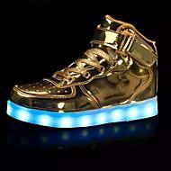 abordables Chaussures pour Fille-Fille Chaussures Polyuréthane Printemps / Automne Confort Basket La boucle du crochet / LED pour Blanc / Argent / Rouge