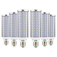 billige Kornpærer med LED-YWXLIGHT® 6pcs 45W 4400-4500 lm E26/E27 LED-kornpærer 140 leds SMD 5730 Varm hvit Kjølig hvit Naturlig hvit AC 85-265V