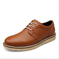 お買い得  メンズオックスフォードシューズ-男性用 靴 レザー 春 / 秋 コンフォートシューズ オックスフォードシューズ オレンジ / Brown / ブルー