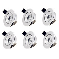 cheap LED Recessed Lights-6pcs 2W 1 LEDs Easy Install Recessed LED Recessed Lights Warm White Cold White 85-265V