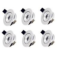 billige Innfelte LED-lys-6pcs 2 W 1 LED perler Lett installasjon Nedfellt Innfelt lampe Varm hvit Kjølig hvit 85-265 V Kommersiell Soveværelse