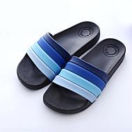 baratos Sapatos Masculinos-Homens Sintético Verão Conforto Chinelos e flip-flops Azul Escuro / Café
