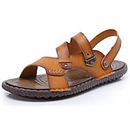 Muškarci Cipele Koža Ljeto Udobne cipele Sandale Kopča za Kauzalni Dark Blue Svjetlosmeđ Tamno smeđa