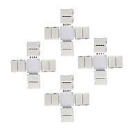 5pcs 10mm 4pin + 크로스 모양 led 커넥터 5050 rgb에 대 한 led가 스트립