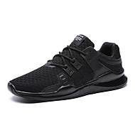 baratos Sapatos Masculinos-Homens Couro Primavera / Outono Conforto Tênis Antiderrapante Branco / Preto / Vermelho