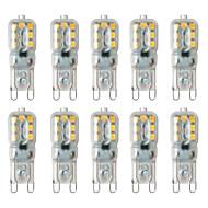 billige Bi-pin lamper med LED-BRELONG® 10pcs 2W 3000-3500  6000-6500lm G9 LED-lamper med G-sokkel 14 LED perler SMD 2835 Varm hvit Hvit 220-240V