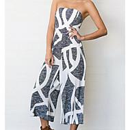 Žene Jumpsuits - Print, Geometrijski oblici Lađa izrez Wide Leg
