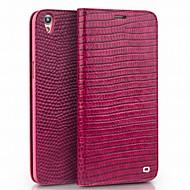 billiga Mobil cases & Skärmskydd-fodral Till OPPO R9s Plus R9s Korthållare Plånbok Stötsäker Lucka Fodral Ensfärgat Hårt Äkta Läder för OPPO R9 Plus