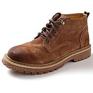 Hombre Zapatos Cuero Nobuck Primavera / Otoño Confort / Botas de nieve Botas Amarillo / Marrón / Azul MMAz9q2