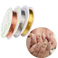 levne Na nehty-5 Nehtové šperky Kovový Nastavitelný Denní Nástroj na dotování hřebíků Design nehtů