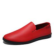 お買い得  紳士靴-男性用 靴 レザー 春 / 秋 フォーマルシューズ オックスフォードシューズ ホワイト / ブラック / レッド