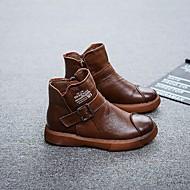baratos Sapatos de Menino-Para Meninos Sapatos Pele Outono / Inverno Coturnos Botas para Preto / Marron