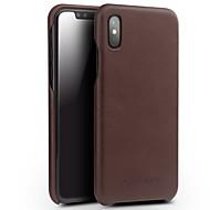 billiga Mobil cases & Skärmskydd-fodral Till Apple iPhone X Stötsäker Skal Ensfärgat Hårt Äkta Läder för iPhone X