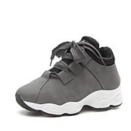 baratos Sapatos Femininos-Mulheres Sapatos Couro Ecológico Primavera / Verão Conforto / botas de desleixo Sandálias Caminhada Salto Plataforma Dedo Aberto Presilha
