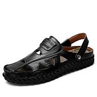 Homens sapatos Pele Napa Verão Outono Conforto Mocassins e Slip-Ons para Casual Escritório e Carreira Preto Amarelo Azul