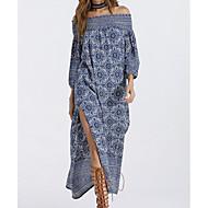 Žene Swing kroj Haljina - Print, Geometrijski oblici Spuštena ramena