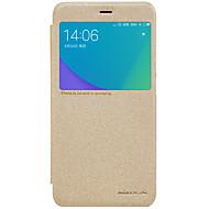 billiga Mobil cases & Skärmskydd-fodral Till Xiaomi Redmi not 5A Redmi Note 4X med fönster Lucka Frostat Fodral Ensfärgat Hårt PU läder för Redmi Note 5A Xiaomi Redmi
