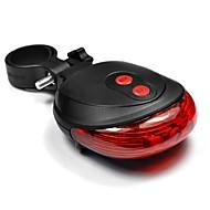 billige Sykkellykter og reflekser-Led Lys Baklys til sykkel sykkel glødelamper Laser LED Sykling Bærbar Vanntett 200lm Lumens 2 AAA Batterier Blå Rød Camping / Vandring /