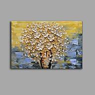 billiga Stilleben-Hang målad oljemålning HANDMÅLAD - Stilleben Blommig / Botanisk Samtida Moderna Duk