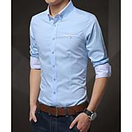 男性用 ベーシック シャツ, ストリートファッション ソリッド
