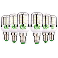 お買い得  LEDコーンライト-YWXLIGHT® 6本 5W 300-500lm E14 LEDコーン型電球 48 LEDビーズ SMD 3014 温白色 クールホワイト 12-24V
