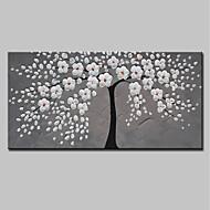 baratos -Pintura a Óleo Pintados à mão - Abstrato Floral / Botânico Modern Tela de pintura