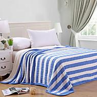 billiga Filtar och plädar-Stickat, Färgat garn Randig Geometrisk Cotton filtar