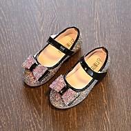 baratos Sapatos de Menina-Para Meninas Sapatos Couro Ecológico Primavera / Outono Conforto / Sapatos para Daminhas de Honra Rasos para Branco / Azul Escuro / Rosa