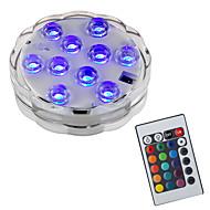 billiga Belysning-BRELONG® 1st 2W Undervattensglödlampa Fjärrstyrd Vattentät Dekorativ Simbassäng RGB 5.5V