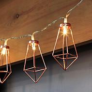 billiga Belysning-1.5m Ljusslingor 10 lysdioder Varmvit Dekorativ AA Batterier Drivs 1st