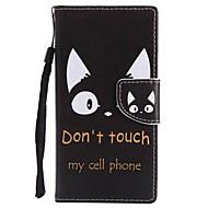 billiga Mobil cases & Skärmskydd-fodral Till Sony Xperia XZ1 Compact Xperia XZ1 Korthållare Plånbok med stativ Lucka Magnet Fodral Katt Hårt PU läder för Xperia XZ1