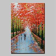 billiga Landskapsmålningar-mintura® handmålade moderna abstrakta röda trädoljemålningar på kanfas väggkonstbilder för heminredning redo att hänga