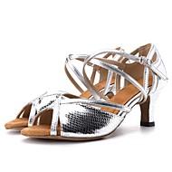 baratos Sapatilhas de Dança-Mulheres Sapatos de Dança Latina / Sapatos de Dança Moderna Courino Sandália / Salto Estampa Animal Salto Carretel Personalizável Sapatos