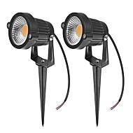 お買い得  Lampu Jalur-ZDM® 2pcs 7W 芝生ライト 防水 屋外照明 温白色 クールホワイト ナチュラルホワイト 24V 12V