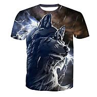 男性用 プリント Tシャツ ベーシック 動物