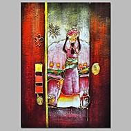 billiga Människomålningar-Hang målad oljemålning HANDMÅLAD - Abstrakt Människor Traditionell Duk
