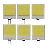 billige Bi-pin lamper med LED-SENCART 6pcs 10W 300lm G4 LED-lamper med G-sokkel T 48 LED perler COB Dekorativ Kjølig hvit 12V / RoHs