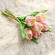 billige Kunstig Blomst-Kunstige blomster 6 Afdeling pastorale stil / Brudebuketter Tulipaner Bordblomst
