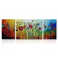 billiga Abstrakta målningar-Hang målad oljemålning HANDMÅLAD - Abstrakt / Blommig / Botanisk Samtida / Traditionell Duk