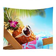 tanie Dekoracje ścienne-Motyw plaża Jedzenie i picie Dekoracja ścienna 100% Polyester Współczesny Nowoczesny Wall Art, Ścienne Gobeliny Dekoracja