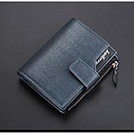 cheap Wallets-Men's / Unisex Bags PU(Polyurethane) Wallet Zipper Blue / Gold