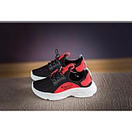 baratos Sapatos de Menina-Para Meninos / Para Meninas Sapatos Malha Respirável Primavera / Outono Conforto Tênis Corrida para Preto / Preto / Vermelho