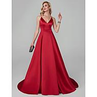 A-Linie Spaghetti-Träger Pinsel Schleppe lyocell Formeller Abend Kleid mit Schärpe / Band durch TS Couture®
