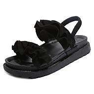 tanie Obuwie damskie-Damskie Obuwie PU Lato Comfort Sandały Creepersy na Casual Black Beige Green