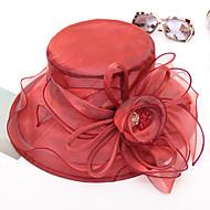 Χαμηλού Κόστους Αξεσουάρ-Γυναικεία Μονόχρωμο Χαριτωμένο Δαντέλα - Καπέλο ηλίου
