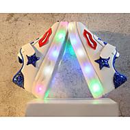 baratos Sapatos de Menina-Para Meninas Sapatos Couro Ecológico Primavera Conforto / Tênis com LED Tênis para Preto / Verde / Azul