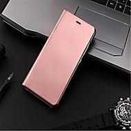 billiga Mobil cases & Skärmskydd-fodral Till Huawei P9 Lite P9 Plätering Spegel Lucka Auto Sömn/Uppvakning Fodral Ensfärgat Hårt PC för Huawei P9 Plus Huawei P9 Lite