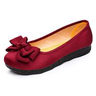 Mujer Zapatos Cachemira Invierno Confort Zapatos de taco bajo y Slip-On Tacón Plano Dedo redondo Pedrería Negro / Caqui Xdkz2KU