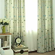cheap Curtains Drapes-Curtains Drapes Living Room Contemporary Cotton / Polyester Printed